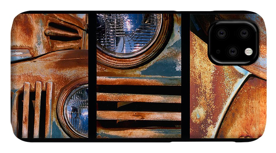Abstract IPhone Case featuring the photograph Red Head On by Steve Karol