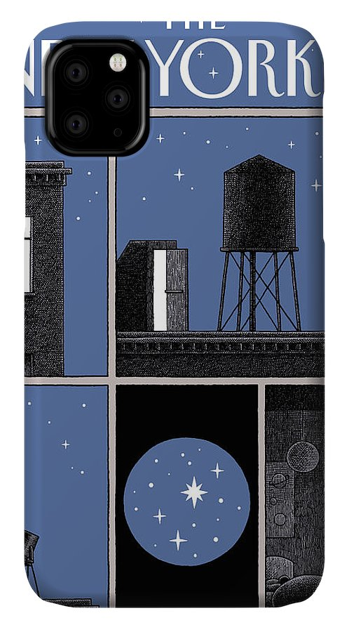 Rooftop Astronomy IPhone Case