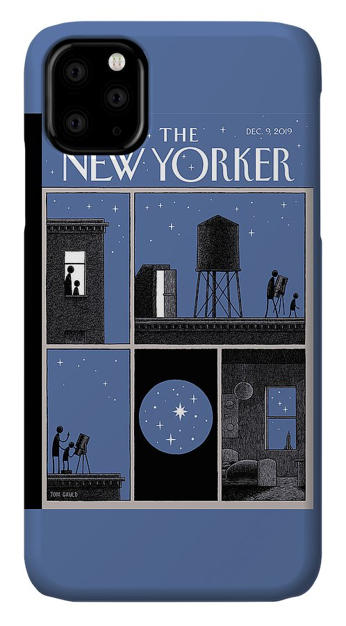 Rooftop Astronomy IPhone Case featuring the drawing Rooftop Astronomy by Tom Gauld