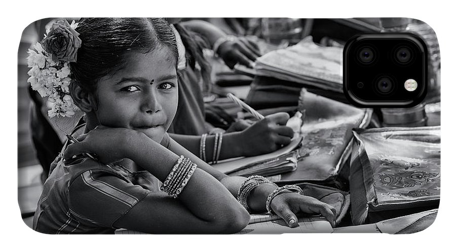Indian Girl IPhone Case featuring the photograph Schooling by Tim Gainey