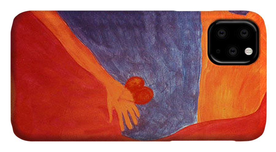 Figure IPhone Case featuring the painting Separation by Ingrid Torjesen