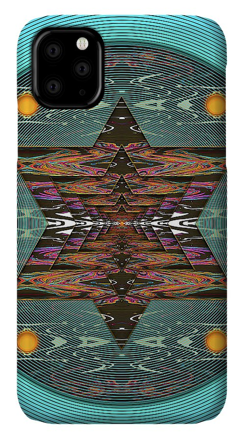Abstract IPhone Case featuring the digital art Stargazer by Jack Entropy