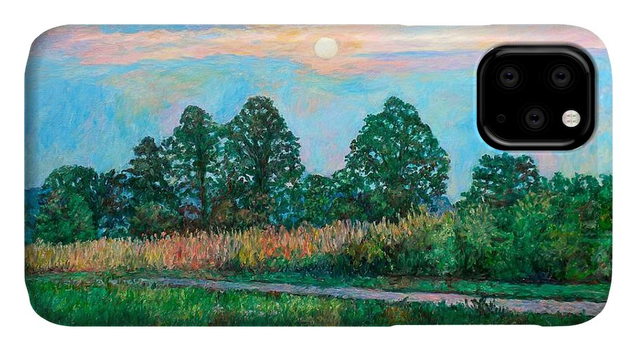 Kendall Kessler IPhone Case featuring the painting Sunset Near Fancy Gap by Kendall Kessler