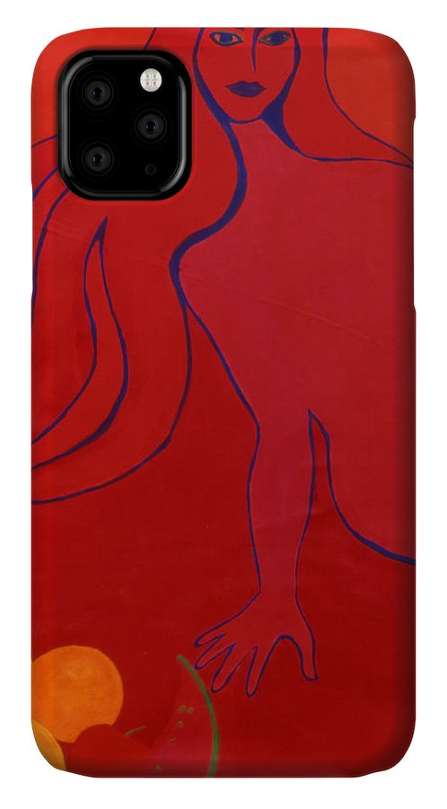 Figure IPhone Case featuring the painting Temptation by Ingrid Torjesen
