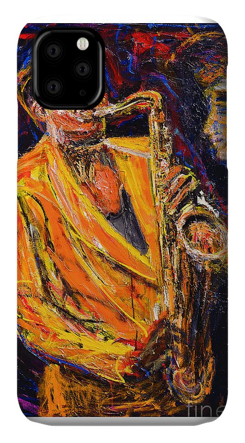 E Street Band The Bigman Clarence Clemons Saxophonist For The Bruce Springsteen And The E Street Band! IPhone Case featuring the painting The Big Man by Patrick Ginter