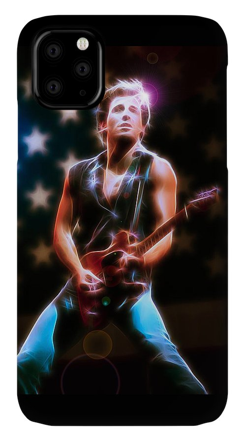 Bruce Springsteen IPhone Case featuring the digital art The BOSS by Fred Larucci