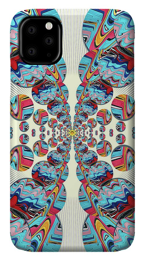 Abstract IPhone Case featuring the digital art The Butterfly Effect by Jack Entropy