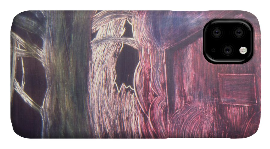 Landscape IPhone Case featuring the painting The opening by Ingrid Torjesen