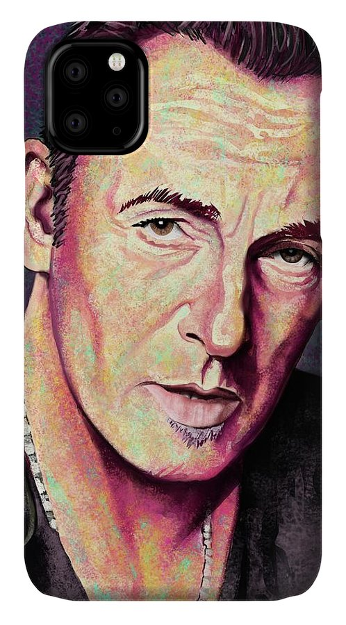Bruce Springsteen IPhone Case featuring the digital art Thunder Road by Paul Dutka