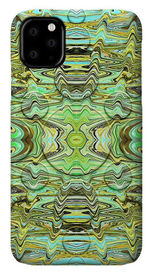 Abstract IPhone Case featuring the digital art Turtle Shell Suezo by Jack Entropy