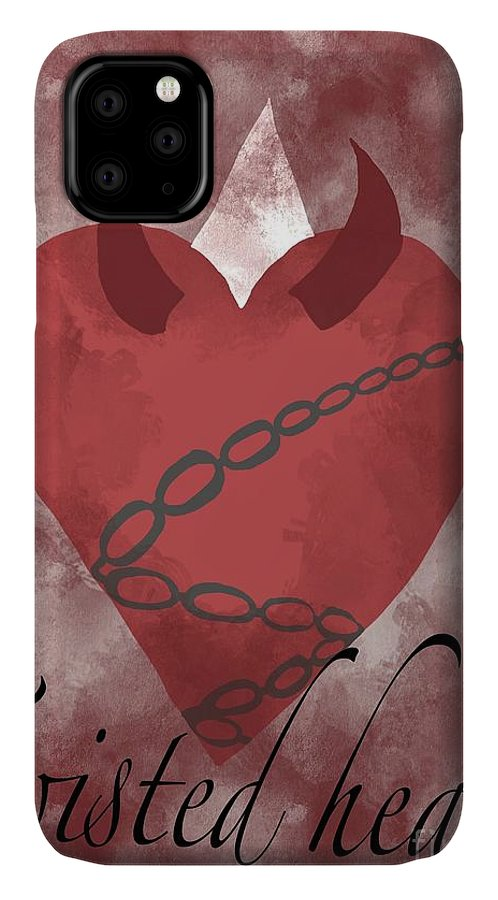 Hear IPhone Case featuring the painting Twisted Heart by Epic Luis Art