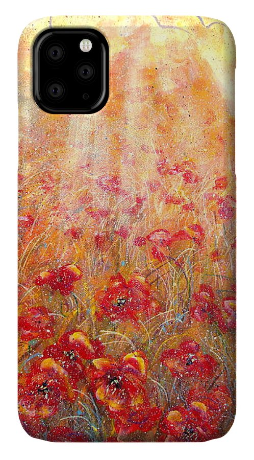 Landscape IPhone Case featuring the painting Warm Sun Rays by Natalie Holland