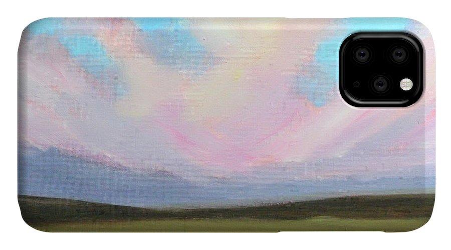 Western Sky IPhone Case featuring the painting Western Sky by Nancy Merkle