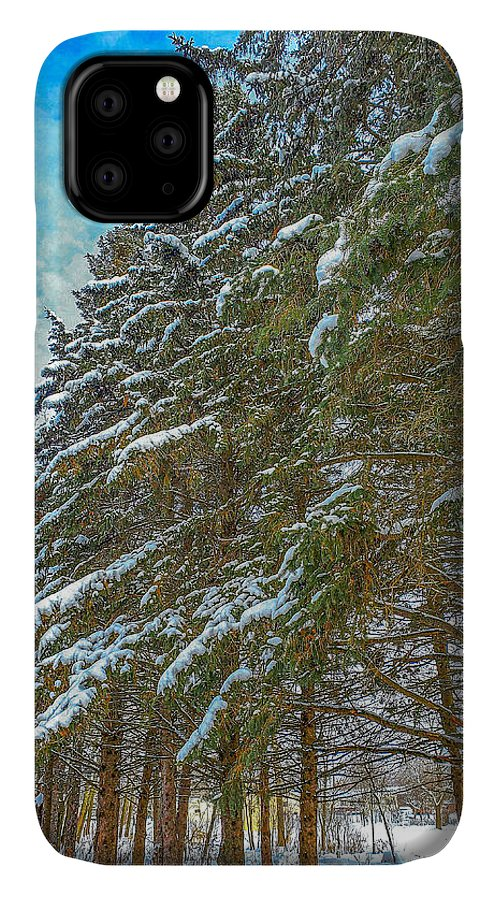 Nature IPhone Case featuring the photograph Winter trees by M Forsell