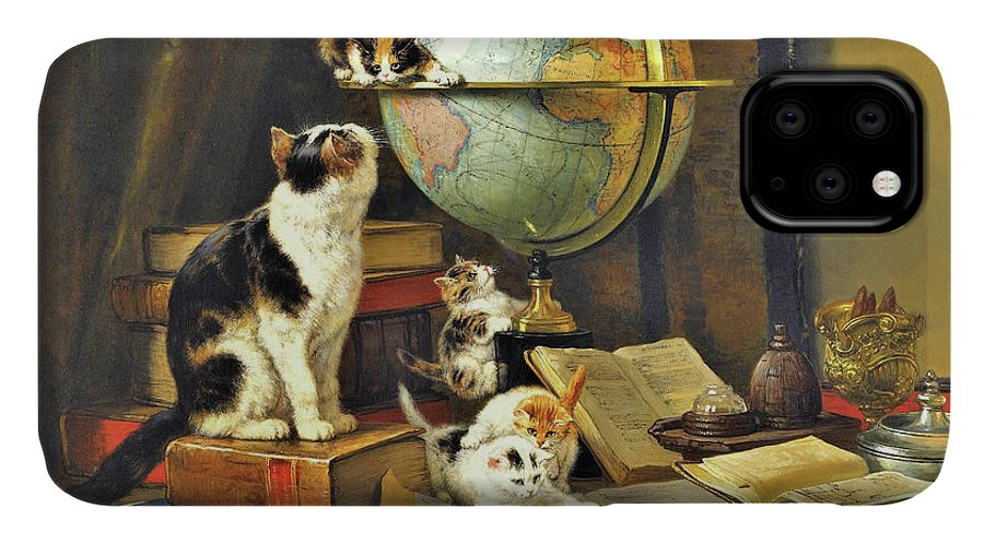 World Traveler IPhone Case featuring the painting World Traveler - Digital Remastered Edition by Henriette Ronner-Knip