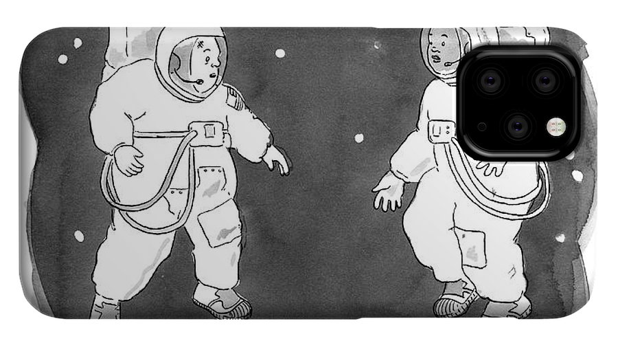 Floating Astronauts iPhone 11 case