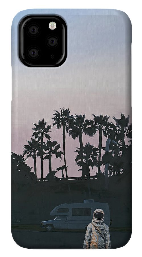 Astronaut IPhone 11 Pro Case featuring the painting Rv Dusk by Scott Listfield