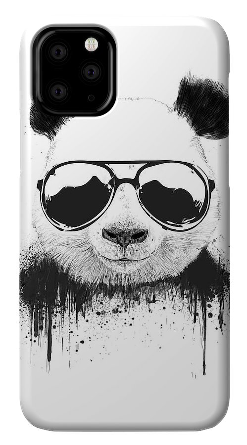 Panda IPhone 11 Pro Case featuring the mixed media Stay Cool by Balazs Solti