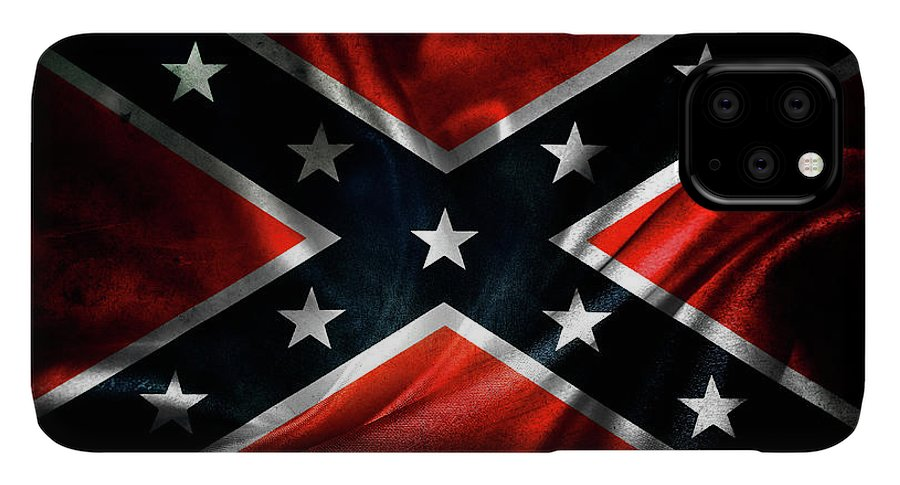 Confederate Flag IPhone 11 Pro Max Case featuring the photograph Confederate Flag 1 by Les Cunliffe