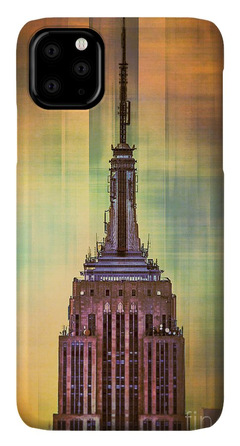 New York IPhone 11 Pro Max Case featuring the digital art Empire State Building 3 by Az Jackson