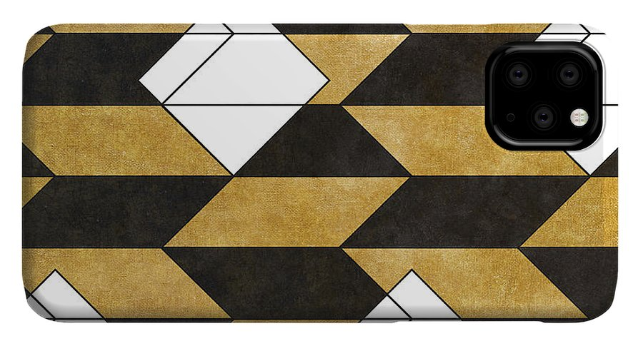 Pattern IPhone 11 Pro Max Case featuring the digital art Geo Pattern II by South Social Studio