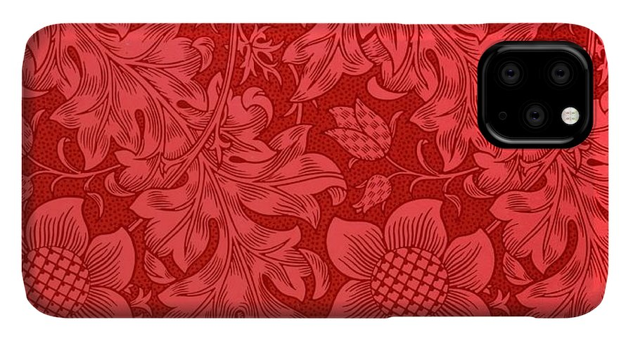 Red Sunflower Wallpaper Design 1879 Iphone 11 Pro Max Case For Sale By William Morris