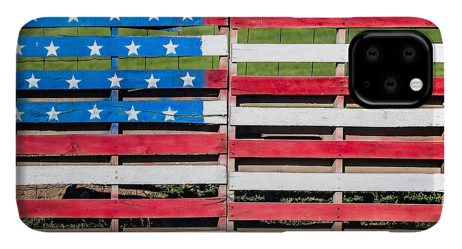 American Flag IPhone 11 Pro Max Case featuring the photograph American Folk Art by Todd Klassy
