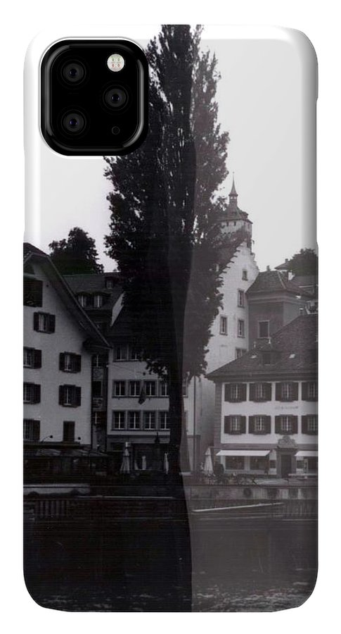 Black And White IPhone 11 Pro Max Case featuring the photograph Black Lucerne by Christian Eberli