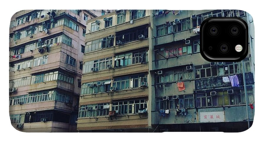 Hongkong IPhone 11 Pro Max Case featuring the photograph Houses Of Kowloon by Florian Wentsch