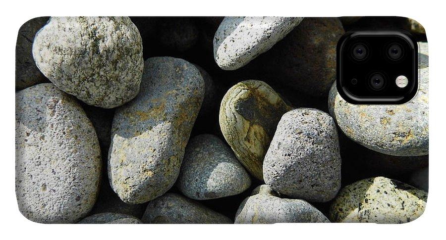 Rock IPhone 11 Pro Max Case featuring the digital art Rocks by Palzattila