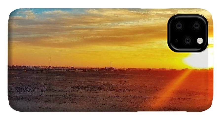Sunset IPhone 11 Pro Max Case featuring the photograph Sunset In Egypt by Usman Idrees
