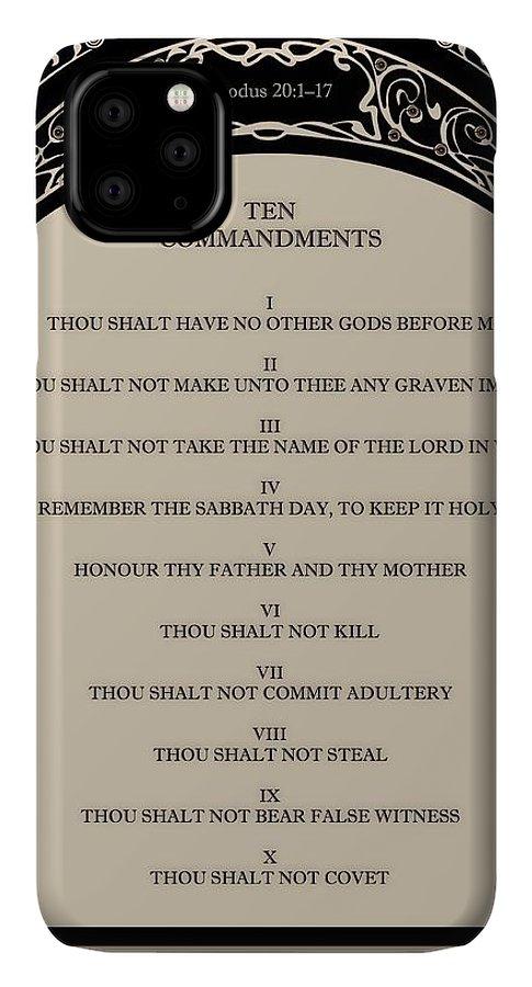 The Ten Commandments on Art Deco Celtic Arch IPhone 11 Pro Max Case