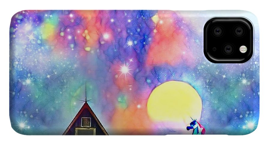 IPhone 11 Pro Max Case featuring the digital art Abode Of The Artificial-dreamer Zero by Sureyya Dipsar