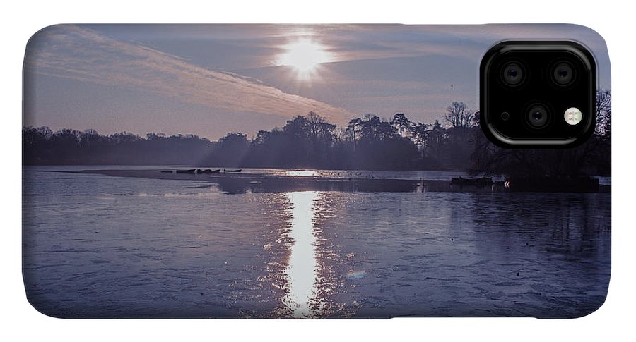 Lake IPhone 11 Pro Max Case featuring the photograph Frozen by Claire Lowe