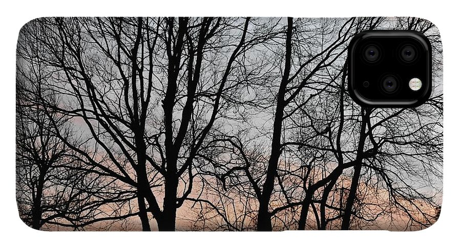 Trees IPhone 11 Pro Max Case featuring the photograph Pink Sky by Cassidy Marshall