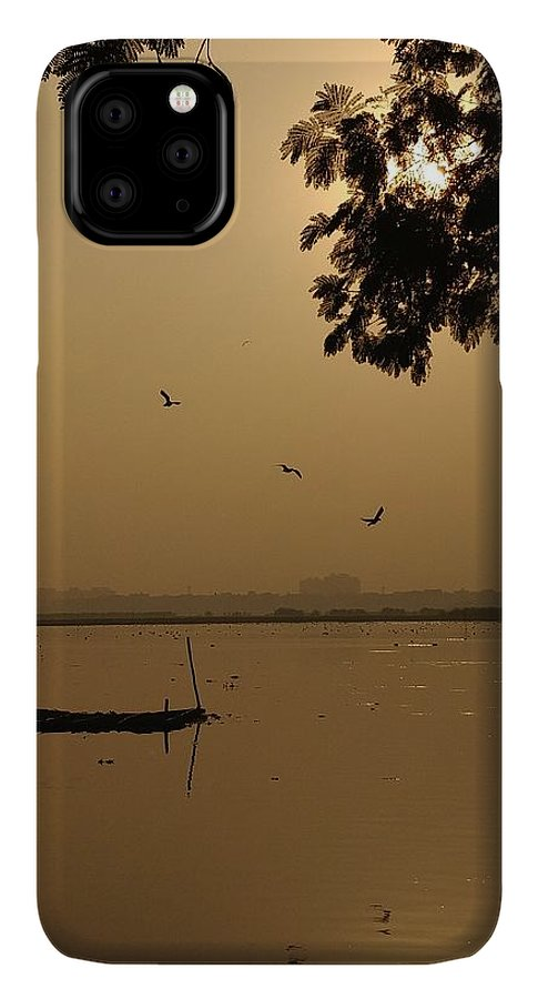 Sunset IPhone 11 Pro Max Case featuring the photograph Sunset by Priya Hazra