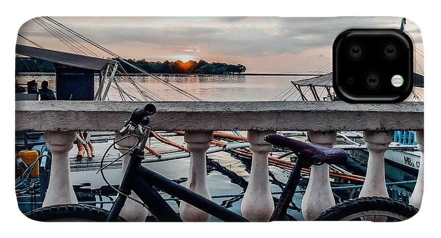 Bike IPhone 11 Pro Max Case featuring the photograph Traveller's point by Dynz Abejero