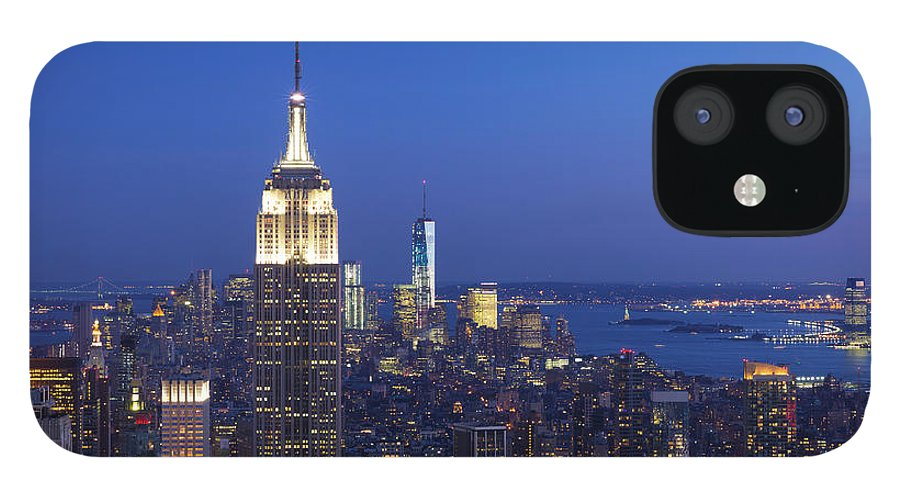 Tranquility IPhone 12 Case featuring the photograph Aerial View Of Empire State And Midtown by Future Light