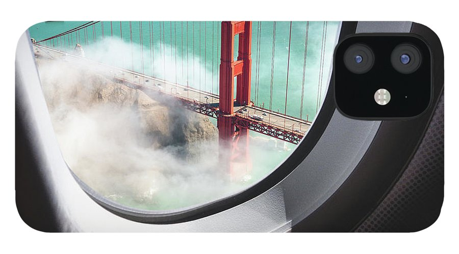Scenics IPhone 12 Case featuring the photograph Aerial View Of San Francisco Golden by Franckreporter