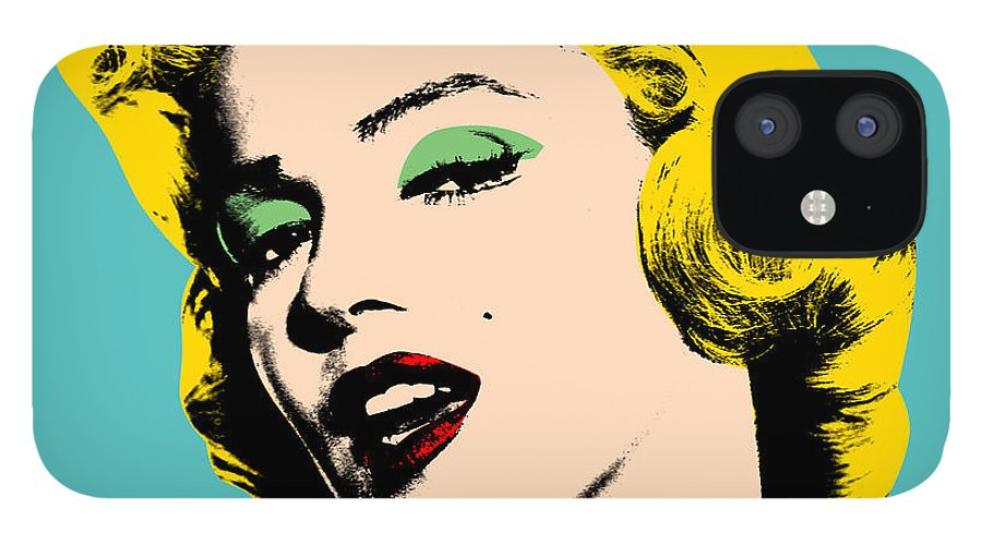 Pop Art IPhone 12 Case featuring the digital art Andy Warhol by Mark Ashkenazi