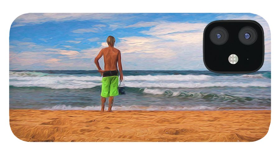 Surf IPhone 12 Case featuring the photograph Anticipation by Sheila Smart Fine Art Photography
