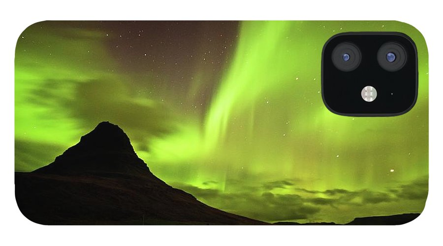Scenics IPhone 12 Case featuring the photograph Aurora Borealis by Geinis