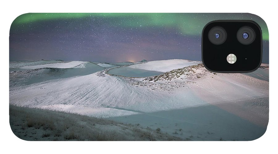 Scenics IPhone 12 Case featuring the photograph Aurora, Myvatn, Iceland by David Clapp