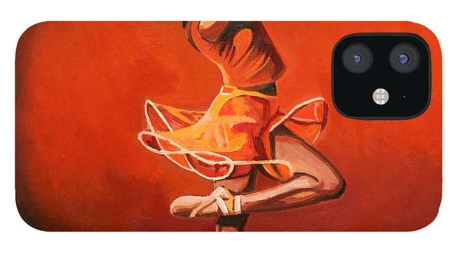 Ballet Dancer IPhone 12 Case featuring the painting Ballet Lady by Patrick Hunt