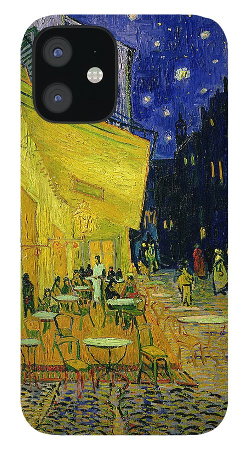 Cafe Terrace IPhone 12 Case featuring the painting Cafe Terrace Arles by Vincent van Gogh
