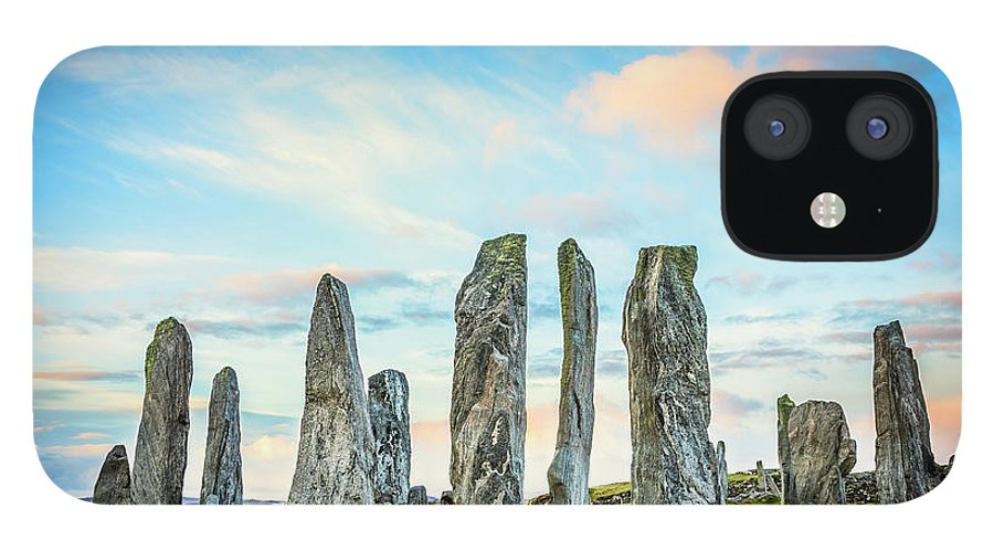 Prehistoric Era IPhone 12 Case featuring the photograph Callanish Standing Stones, Isle Of Lewis by Theasis