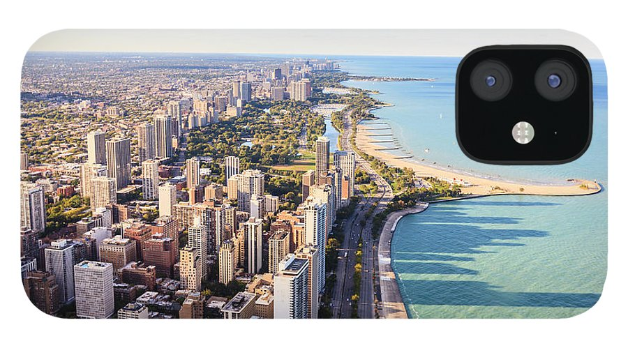 Water's Edge IPhone 12 Case featuring the photograph Chicago Lakefront Skyline by Fraser Hall