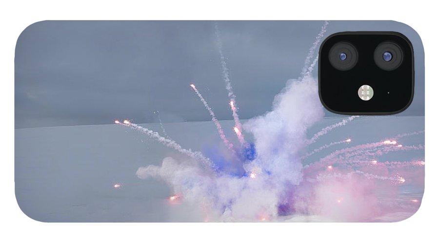 Copenhagen IPhone 12 Case featuring the photograph Explosion In Winter Landscape by Henrik Sorensen
