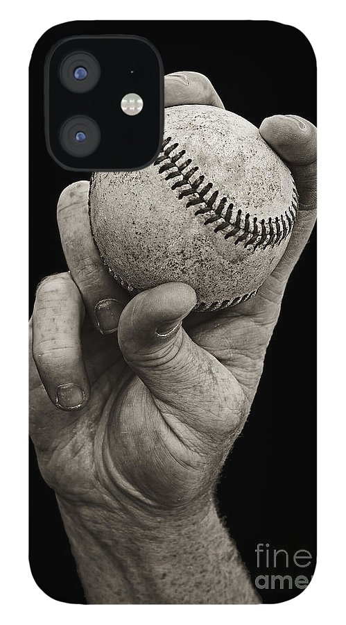 Baseball IPhone 12 Case featuring the photograph Fastball by Diane Diederich