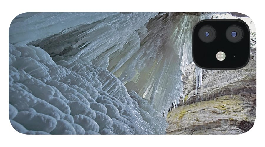 Unesco IPhone 12 Case featuring the photograph Frozen Waterfall At Maligne Canyon by Jim Julien / Design Pics